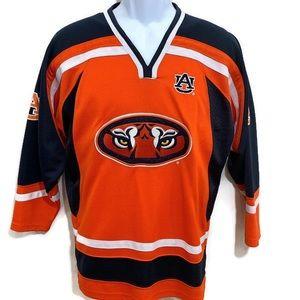 Auburn Giant Eyes Tigers Logo Youth Hockey Jersey